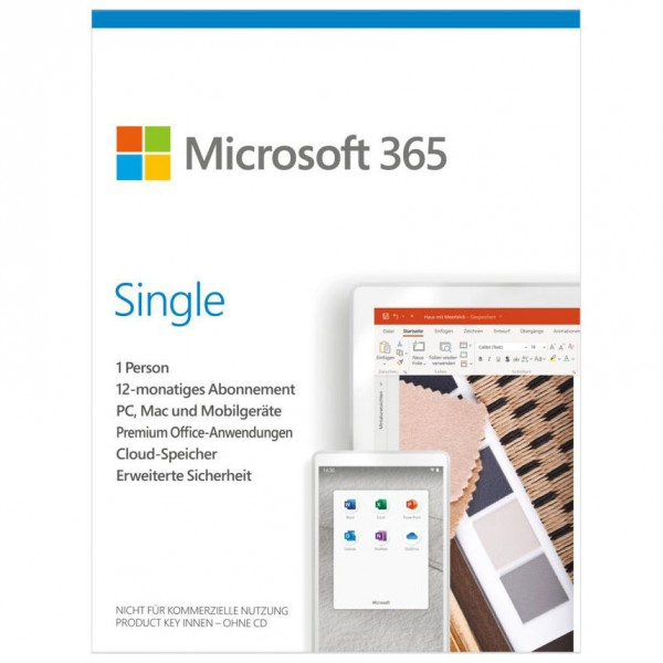 Microsoft 365 Single (Vor Office 365 Personal)